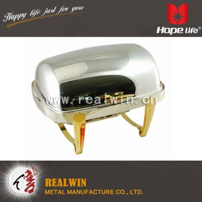 9L FULL SIZE ROLL TOP CHAFER
