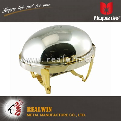 9L OVAL ROLL TOP CHAFER
